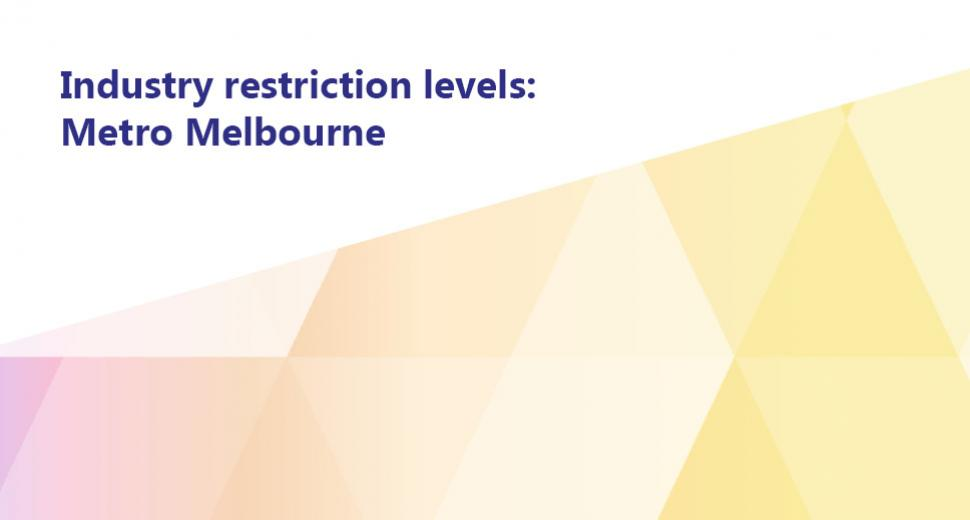 Industry Restriction Levels: Metro Melbourne